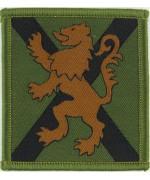 Королевского полка Шотландии (Лев на косом кресте на оливковом фоне)