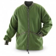 Флисовая куртка - подстёжка армии Великобритании, олива, б/у