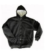 Куртка-толстовка с искусственным мехом, чёрная, новая