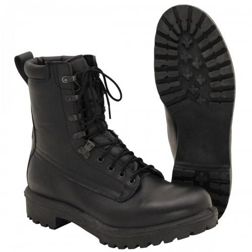 Берцы кожаные с мембранной Gore-Tex армии Великобритании, чёрные, новые