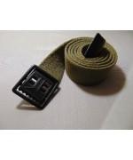 Ремень брючной с чёрной пряжкой армии США М 37, олива-песочный, б\у