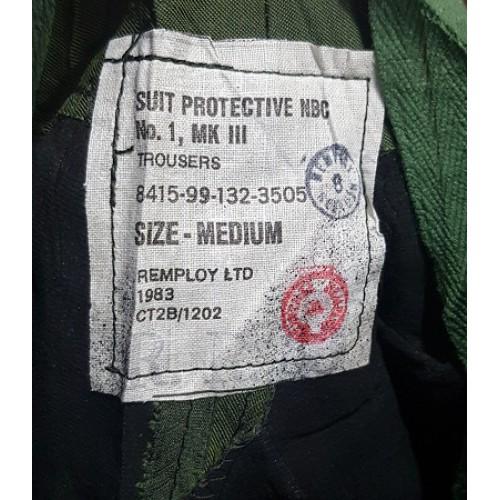 Брюки от комплекта РХБЗ N.B.C.№1 MKIII армии Великобритании, олива, новые