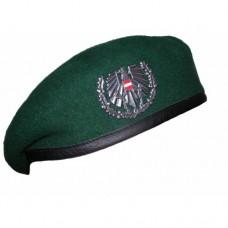 Берет с кокардой армии Австрии, зелёный, б/у