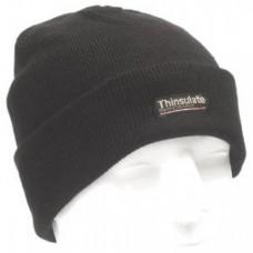 Шапка вязанная с утеплителем Thinsulate, чёрная, новая