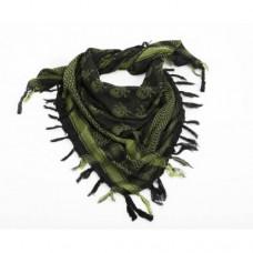 Шемаг (арафатка) с черепами, олива-чёрный, новая