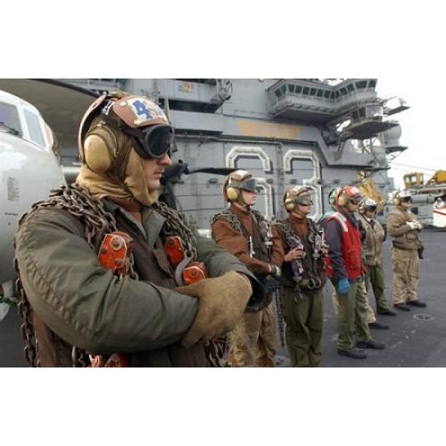 Шлем  Flight Deck Crewman's, Impact Resistant ВВС США, б/у отличное состояние