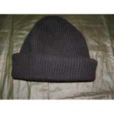 """Вязанная шапка с мембраной  """"windstopper"""" Бундесвера, чёрная, б/у"""