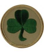 48 Бригада  (Ирландский полк)- Трилистник на песчаных диска вышитые