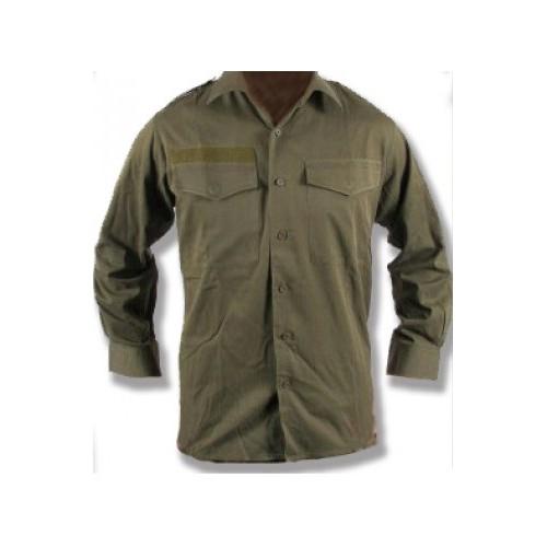 Рубашка летняя армии Австрии без шеврона, олива, б/у