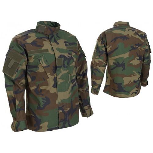 Рубашка армии США Rip-stop ACU Woodland, новая