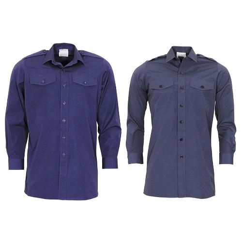 Рубашка армии Великобритании, синяя, б/у