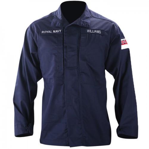 Рубашка Combat, Warm Weather, Royal navy blue, FR, армии Великобритании, б/у 2 категория