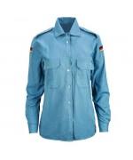 Рубашка женская ВМФ Бундесвера, голубая, б/у