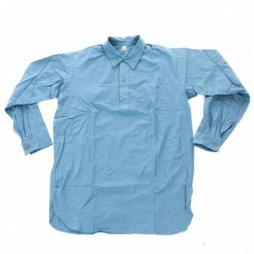 Рубашка М-55 армии Швеции, светло-синяя, новая