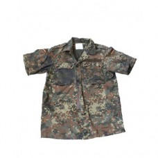 Рубашка полевая Бундесвера с коротким рукавом, флектарн, б/у