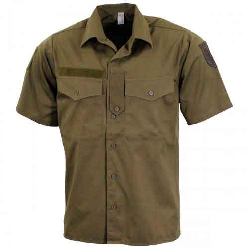 Рубашка с коротким рукавом  армии Австрии, олива, б/у