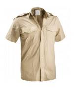Рубашка с коротким рукавом армии Великобритании, бежевая, б/у