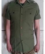 Рубашка с коротким рукавом  армии Великобритании, олива, б/у