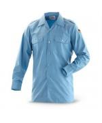 Рубашка ВМФ Бундесвера, голубая, б/у 2 категория