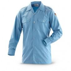 Рубашка ВМФ Бундесвера, голубая, б/у