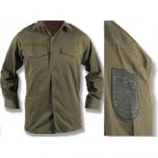 Рубашка летняя армии Австрии, олива, б/у хорошее состояние