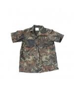 Рубашка полевая Бундесвера с коротким рукавом, флектарн, как новая