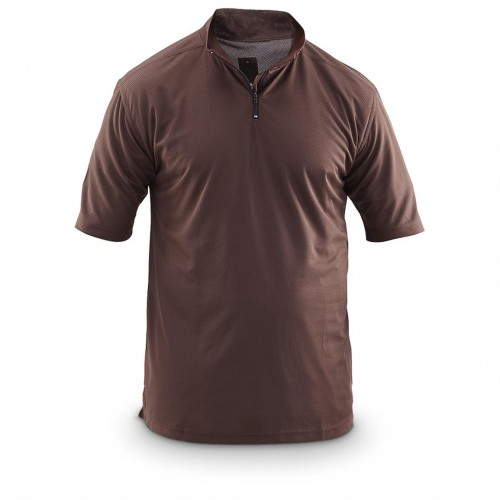 Футболка Coolmax c молнией армии Великобритании, коричневая, б/у 2-я категория