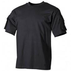 Футболка с нарукавными  карманами, чёрная, новая