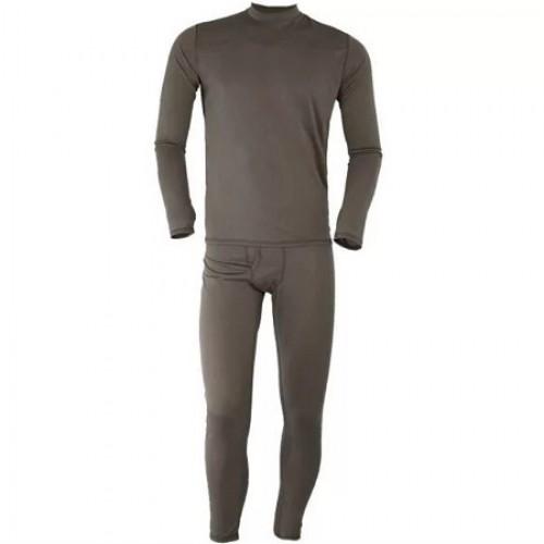Комплект нательного белья (футболка с длинным рукавом и кальсоны), олива, новый