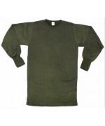 Нательная тёплая рубашка армии Франции, олива, новая