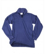 Тёплая рубашка армии Великобритании Shirt Man's Field Extreme Cold Weather Shirt Norwegian, синяя, б/у