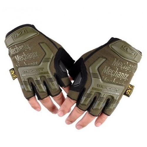 Перчатки беспалые Mechanix M-Pact, олива-черные, новые