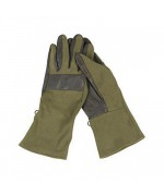 """Перчатки Бундесвера """"Nomex"""" с кожаными накладками, олива, как новые"""