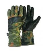 Перчатки Бундесвера с кожаными накладками, флектарн, б/у