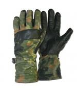 Перчатки Бундесвера с кожаными накладками, флектарн, как новые