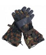 Перчатки  Бундесвера зимние с кожаными накладками, флектарн, б/у хорошее состояние