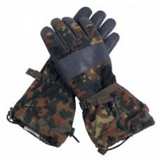 Перчатки  Бундесвера зимние с кожаными накладками, флектарн, б/у