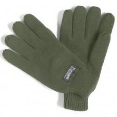 Перчатки флисовые с утеплителем Thinsulate, олива, новые