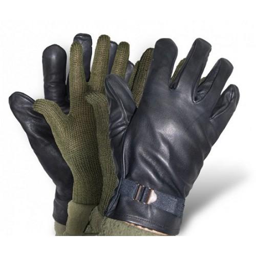 Перчатки кожаные армии Бельгии, черные, новые