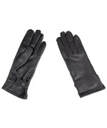 Перчатки кожаные с застежками армии Голландии, черные, новые