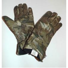 Перчатки кожаные утеплённые Combat Gloves MK II армии Великобритании, MTP, б/у 2 категория