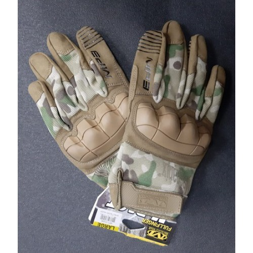 Перчатки Mechanix M-Pact с защитой костяшек, multicam, новые