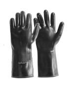 Перчатки резиновые короткие армии Голландии, чёрные, новые