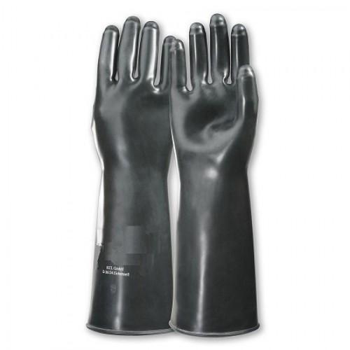 Перчатки резиновые удлинённые армии Голландии, чёрные, новые