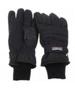 Перчатки с  утеплителем  Thinsulate и вязанными манжетами, чёрные, новые