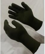 Перчатки вязанные армии Великобритании, олива, б/у