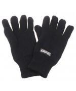 Перчатки вязанные с утеплителем Thinsulate, чёрные, новые
