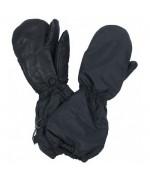 Рукавицы с искусственным мехом и кожаными накладками армии Швейцарии, черные, бу отличное состояние