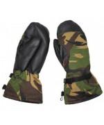 Рукавицы с искусственным мехом и кожаными накладками армии Голландии, DPM, б/у
