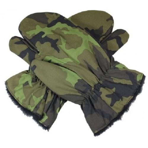 Рукавицы трёхпалые с искусственным мехом M-95 армии Чехии, новые